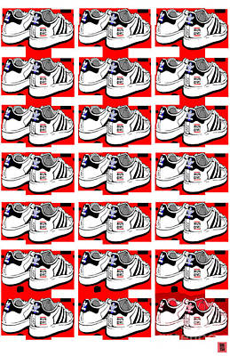 Sneakers Digital Art - Jmj Tribute Walk This Way by Sol Sketches