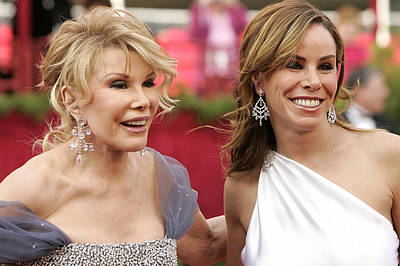 Mixed Media - Joan And Her Daughter Melissa Rivers by Marvin Blaine