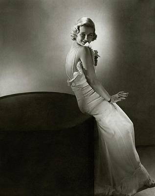 Joan Bennet Looking Over Her Shoulder Art Print
