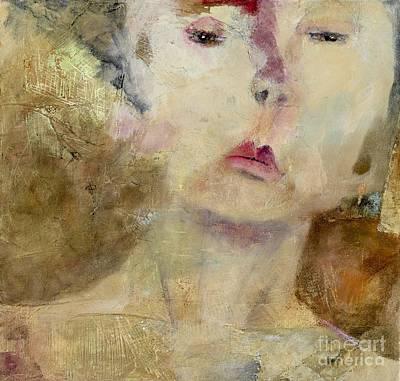 Gold Earrings Painting - Joan by Beth Myers