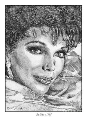 Drawing - Joan Collins In 1985 by J McCombie