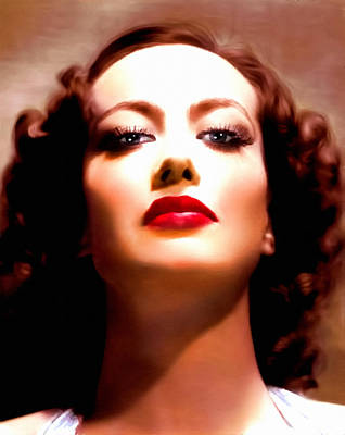 Classical Realism Painting - Joan Crawford by Georgiana Romanovna