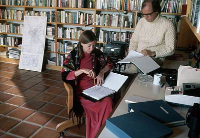 Photograph - Joan Didion And John Gregory Dunne by Henry Clarke