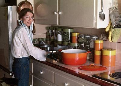 Photograph - Joan Didion Cooking by Henry Clarke