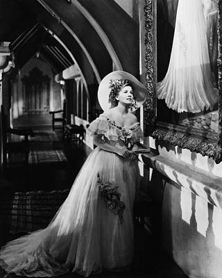 Fontaine Photograph - Joan Fontaine In Rebecca  by Silver Screen
