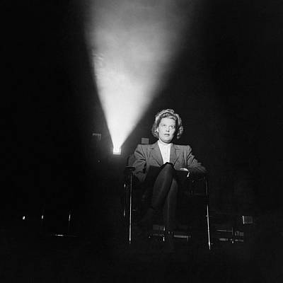 Light Photograph - Joan Harrison In A Dark Cinema by Ralph Crane