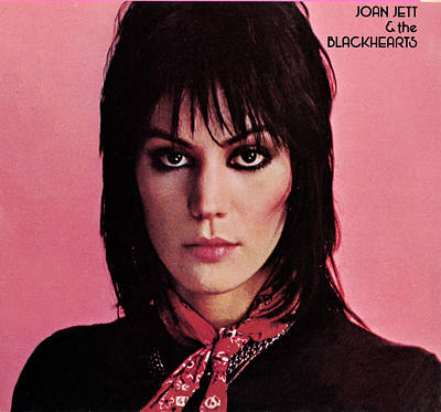 Punk Rock Photograph - Joan Jett - Crimson And Clover 1982 - Back Cover by Epic Rights