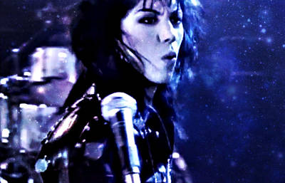 Joan Jett Art Print by Cyryn Fyrcyd