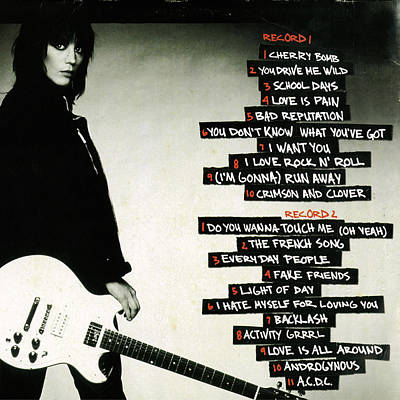 Joan Jett - Greatest Hits 2010 - Back Cover Art Print by Epic Rights