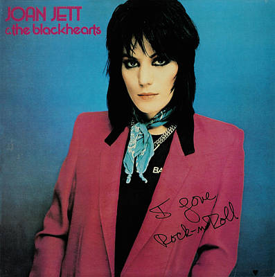 Platinum Photograph - Joan Jett - I Love Rock 'n Roll 1981 by Epic Rights
