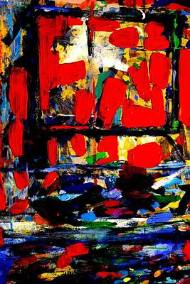 Abstract Expressionism Painting - Joan Miro Quote   I Try To Apply Colors Like Words That Shape Poems Like Notes That Shape Music by John  Nolan