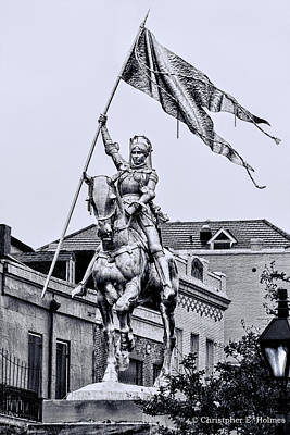 Photograph - Joan Of Arc - Bw by Christopher Holmes
