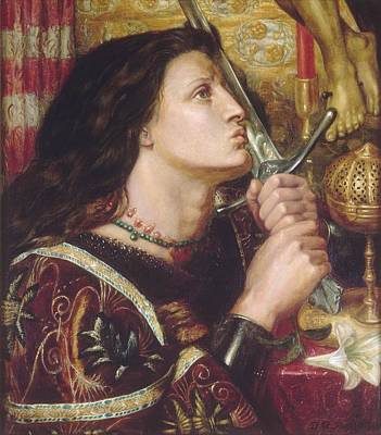 Rossetti Painting - Joan Of Arc Kisses The Sword Of Liberation by Philip Ralley