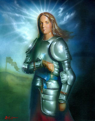 Vain Painting - Joan Of Arc by Luis  Navarro