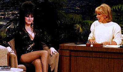 Johnny Carson Photograph - Joan Rivers And Elvira by Brian Benjamin