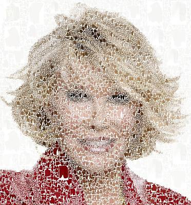Painting - Joan Rivers - Collage by Samuel Majcen