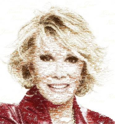 Painting - Joan Rivers - Typography by Samuel Majcen