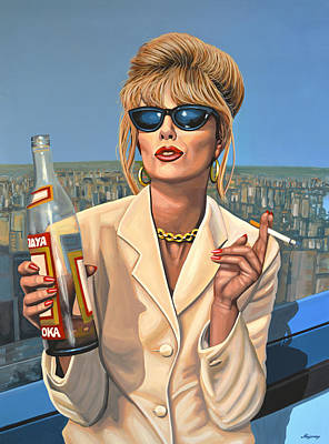 Bride Painting - Joanna Lumley As Patsy Stone by Paul Meijering