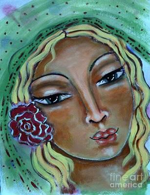 Religious Art Mixed Media - Joanna by Maya Telford