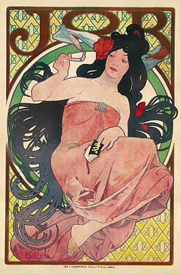 Graphics Painting - Job by Alfons Mucha