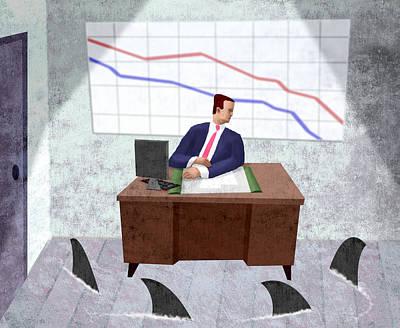 Bad Economy Digital Art - Job In Jeopardy by Steve Dininno