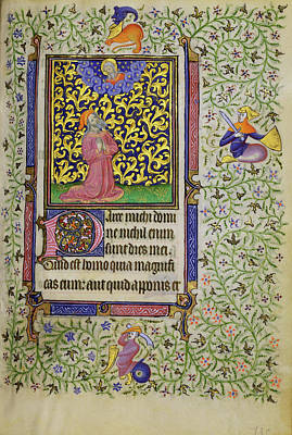 1420 Painting - Job In Prayer Follower Of The Egerton Master, French by Litz Collection