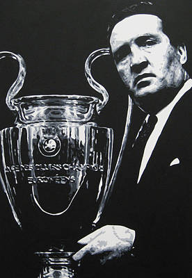 Painting - Jock Stein - Celtic Fc by Geo Thomson