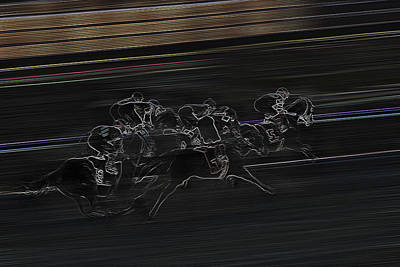 Photograph - Jockeying For Position - Horse Racing - Jockey by Jason Politte