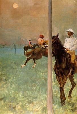 Jockeys Before The Start Art Print by Edgar Degas
