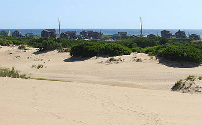 Wooden Photograph - Houses Off Jockey's Ridge 3 by Cathy Lindsey