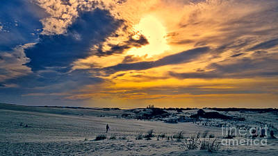Photograph - Jockey's Ridge Sunset Pano by Dawn Gari