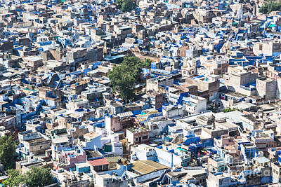 Chaos Maze Photograph - Jodhpur Blue City by Didier Marti