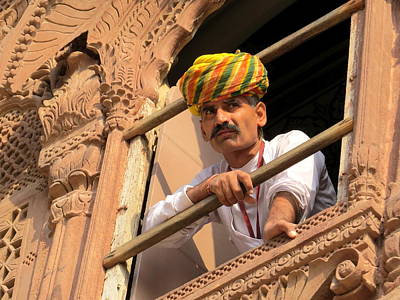 Photograph - Jodhpur Fort Guard by David Rich