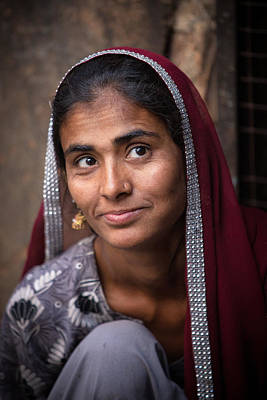 Photograph - Jodhpur Woman by Brad Grove