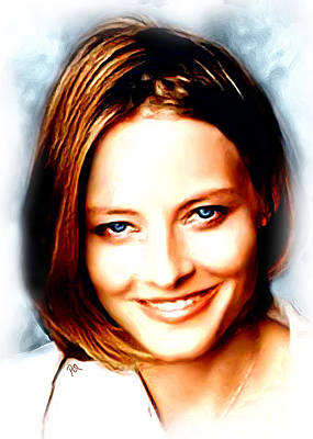 Jodie Foster Art Print by Paul Quarry