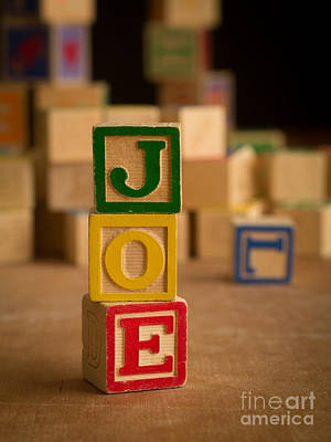 Photograph - Joe - Alphabet Blocks by Edward Fielding