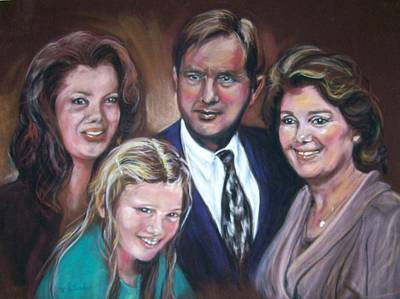Pastel - Joe And His Girls by Martha Suhocke