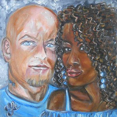 Painting - Joe And Jess by Yesi Casanova