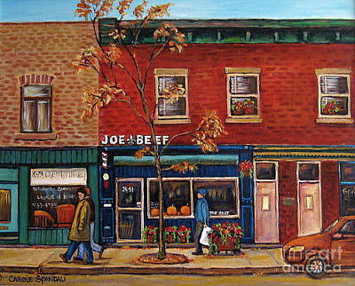 Painting - Joe Beef Restaurant Montreal by Carole Spandau