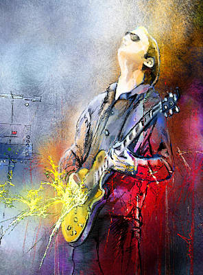 Communion Painting - Joe Bonamassa 02 by Miki De Goodaboom