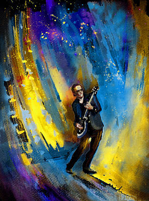 Art Miki Painting - Joe Bonamassa 03 by Miki De Goodaboom