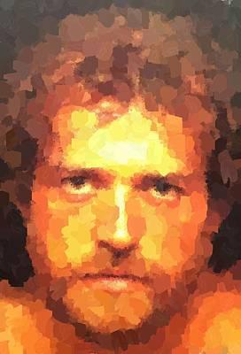 Painting - Joe Cocker Portrait by Samuel Majcen