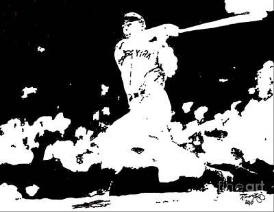 Yankees Drawing - Joe Dimaggio Drawing by Rob Monte