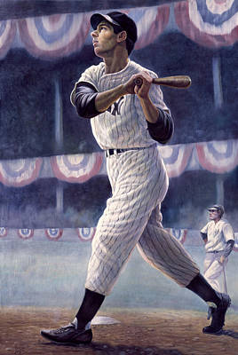 Athletes Mixed Media - Joe Dimaggio by Gregory Perillo