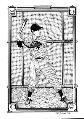 New York Yankees Drawing - Joe Dimaggio  by Ira Shander