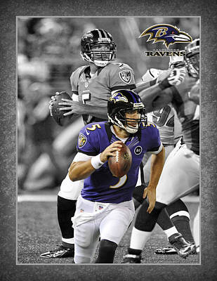 Baltimore Ravens Wall Art - Photograph - Joe Flacco Ravens by Joe Hamilton