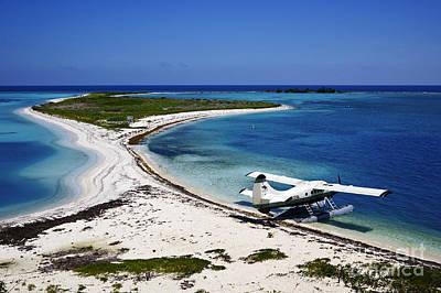 Tortuga Beach Photograph - Joe Fox Fine Art - Dehaviland Dhc-3 Otter Seaplane On The Beach  by Joe Fox
