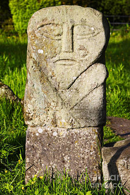 Diety Photograph - Joe Fox Fine Art - The Janus Stone Boa Island Fermanagh Ireland by Joe Fox