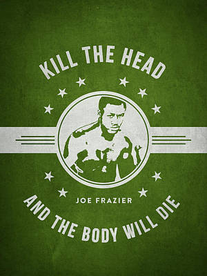 Joe Frazier - Green Art Print