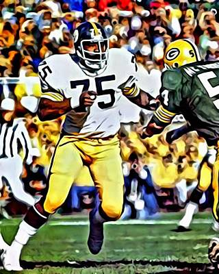 Painting - Joe Greene by Florian Rodarte
